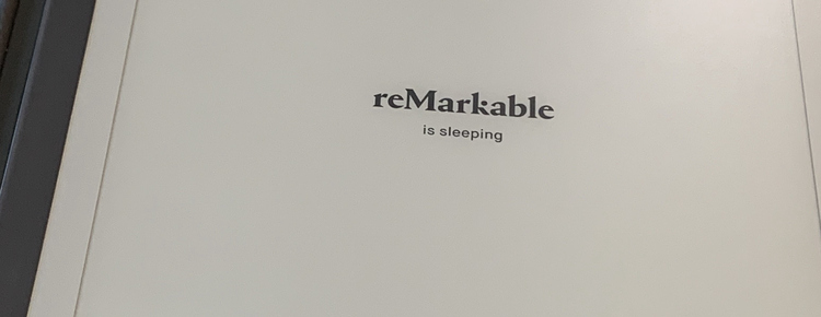 """Image shows the default """"reMarkable is sleeping"""" image in my reMarkable2."""