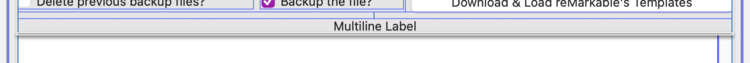 """Image shows the UI with three controls spanning across the window. From top to bottom you see the bottom portion of the horizontal stack view, a label centered saying """"Multiline Label"""", and the top part of a scrollable text view."""