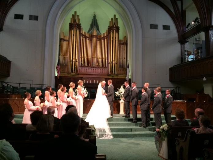 We married at Walnut Street Baptist Church in Louisville, Kentucky.