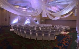 The ceremony space for Sarah and TJ designed by Doug Smith Designs