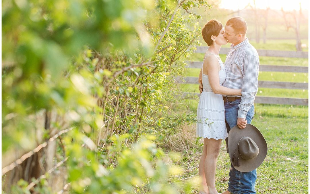 Spring Engagement Session On A Horse Farm in Lexington, KY (Cutest Horses, Dog, and Donkeys)