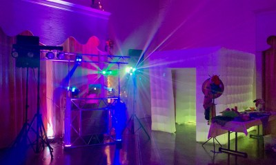 Party Setup with Photo Booth