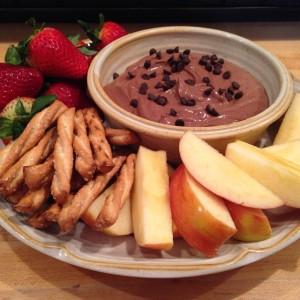 Chocolately Chocolate Chip Yogurt Dip