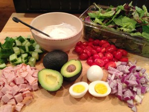 Simple Cobb Salad In A Jar 1