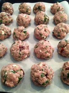 Sun Dried Tomato, Spinach & Feta Meatballs 1