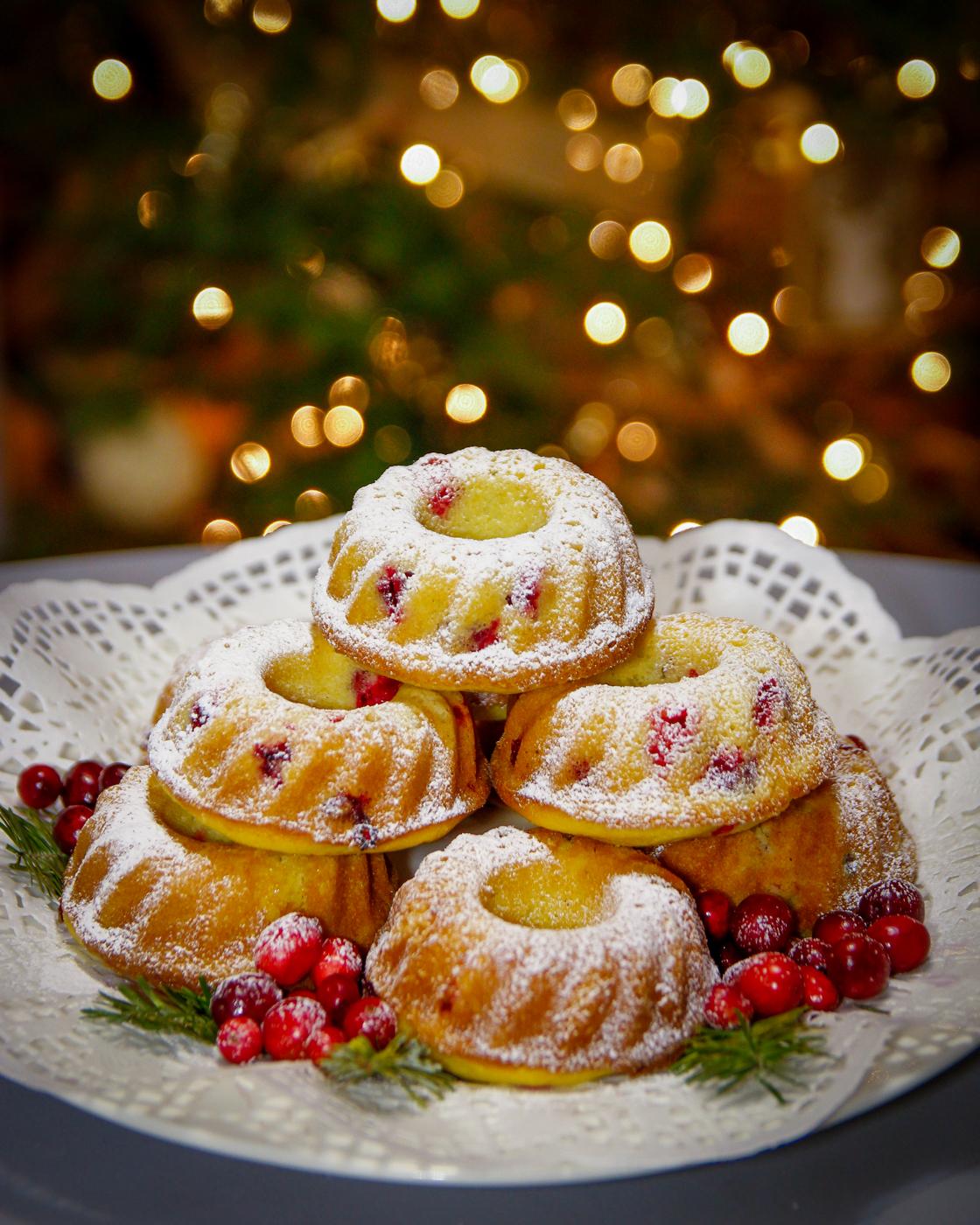 Christmas Cranberry Orange Bundt Cake