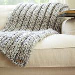 Chunky Rib Stitch Knit Blanket Pattern Simplymaggie Com