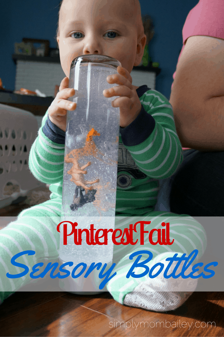 Pinterest Fail: DIY Sensory Bottles