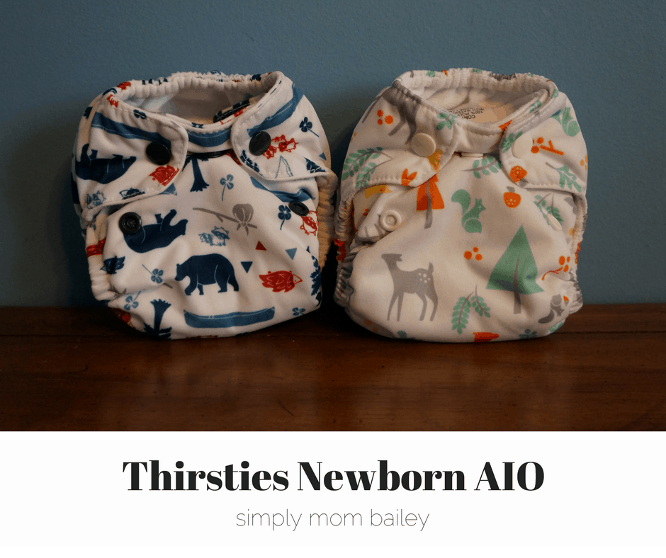 thirsties newborn side by side