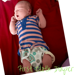 First Cloth Diaper - Newborn Cover and prefold diaper