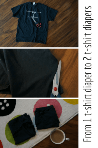 From 1 t-shirt diaper to 2 t-shirt diapers