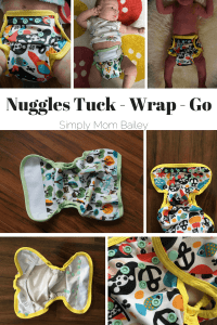 Nuggles Tuck - Wrap - Go Newborn Size 1 cloth diaper cover