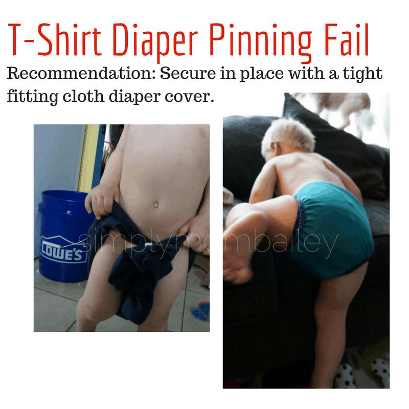 T-shirt Diaper Pinning Fail