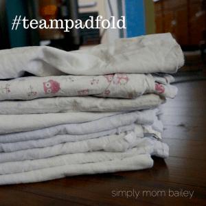 team pad fold - flats challenge - flat diaper folds