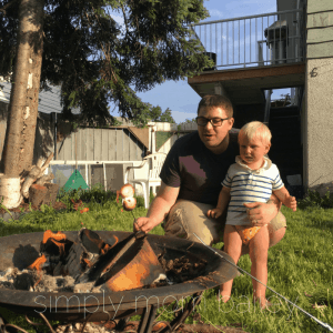Backyard Camping with 2 Under 2 - Why I'm going camping with babies - eating s'mores with a toddler.