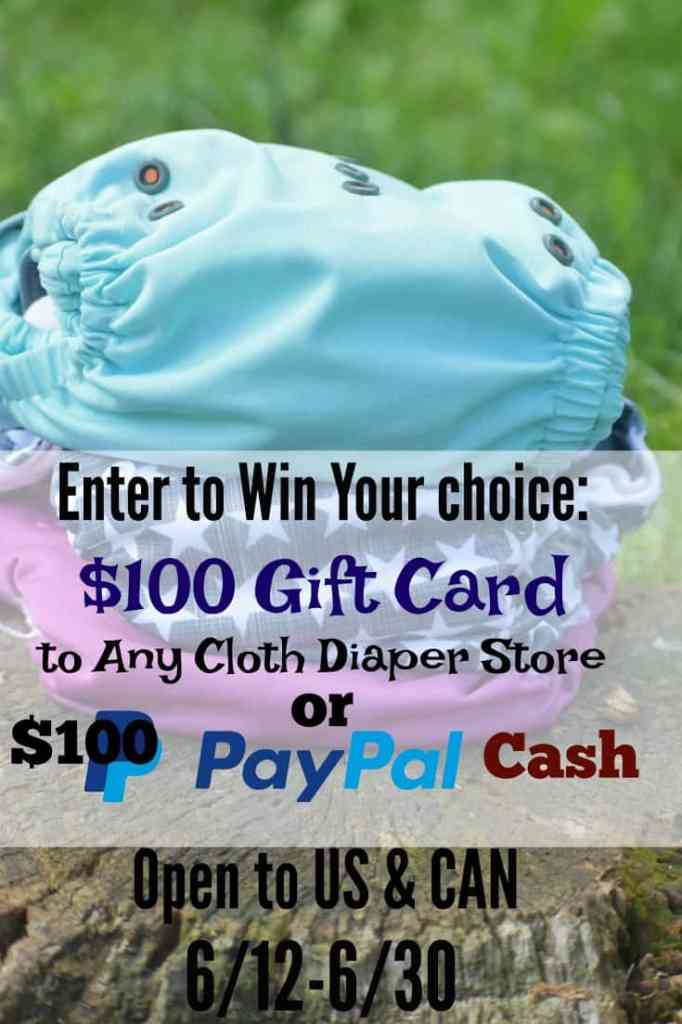 $100 Cloth Diaper Giveaway