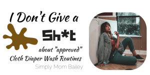 I Don't Give a shit about cloth diaper wash routine