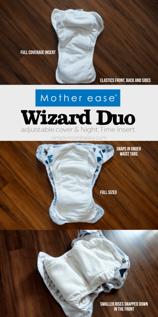 Mother ease Wizard Duo Night time Insert for heavy wetters - Mother Ease Cloth Diapers - Cloth Diapers made in Canada - Absorbent Cloth diapers