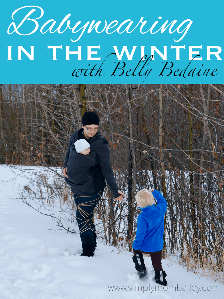 Babywearing in the Winter with Belly Bedaine #babywearing #momlife #outside #kids #family #baby