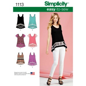 1113 simplicity tops vests pattern 1113 a envelope