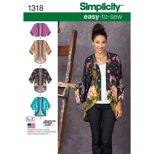 1318 simplicity jackets coats pattern 1318 a envelope
