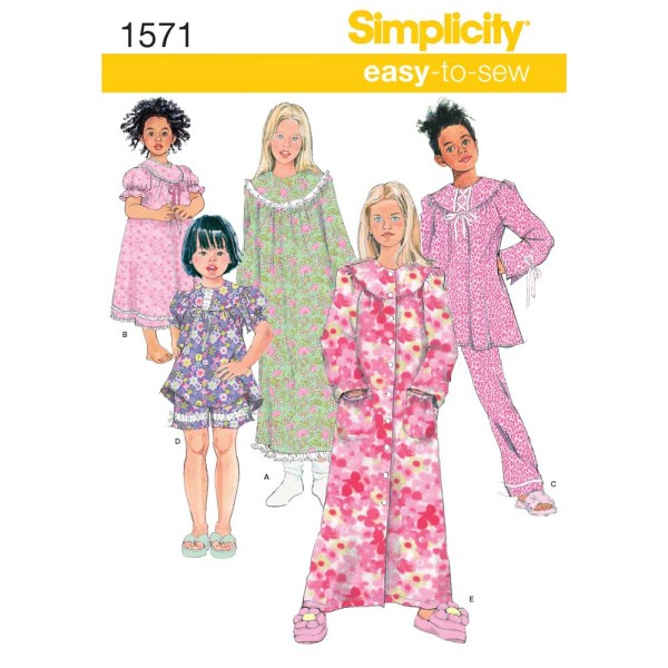1571 simplicity girls pattern 1571 a envelope