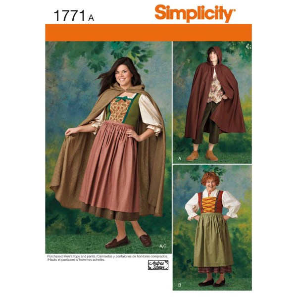 1771 simplicity costumes pattern 1771 a envelope