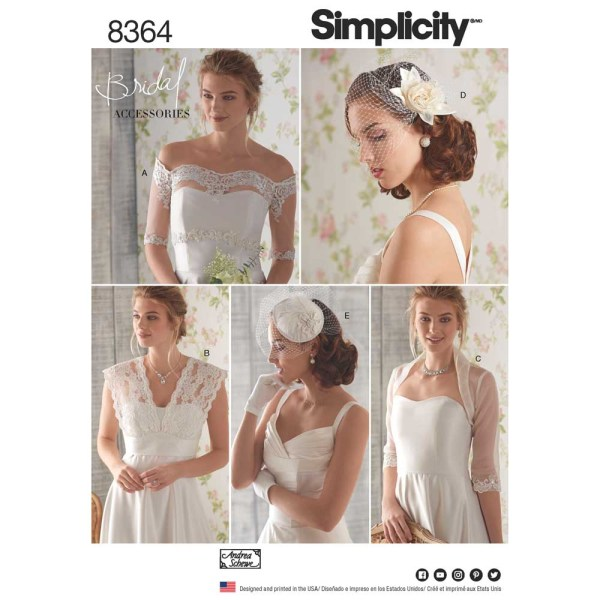 8364 simplicity bridal accessories pattern 8364 a envelope