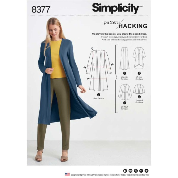 8377 simplicity pattern hack 8377 a envelope