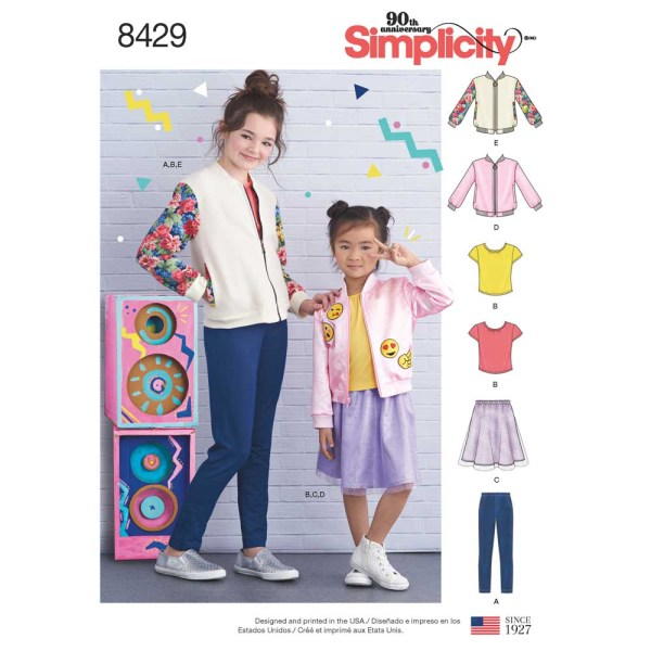 8429 simplicity children bomber pattern 8429 a envelope
