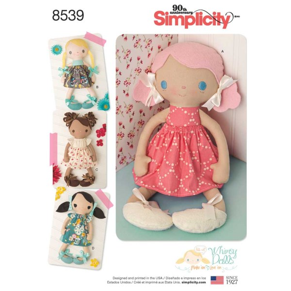 8539 simplicity doll stuffies pattern 8539 a envelope