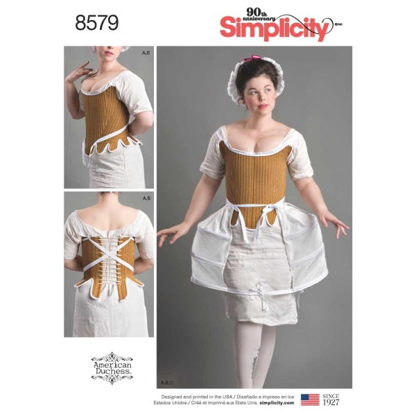 8579 simplicity american duchess undergarments pattern 8579 a envelope