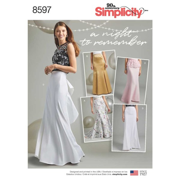 8597 simplicity mermaid skirt pattern 8597 a envelope
