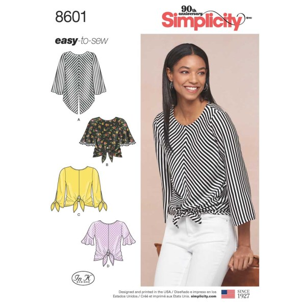 8601 simplicity tie front top pattern 8601 a envelope