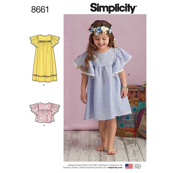 8661 simplicity child dress pattern 8661 a envelope