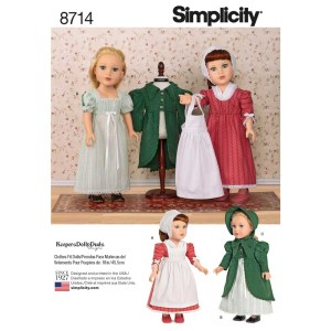 8714 simplicity keepers dolly duds dolls pattern 8714 a envelope