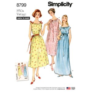 8799 simplicity vintage nightgown 1950s pattern 8799 a envelope