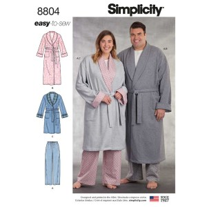 8804 simplicity plus size sleepwear pattern 8804 a envelope