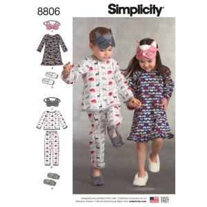 8806 simplicity child face mask cozywear pattern 8806 a envelope