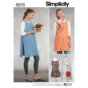 8816 simplicity miss aprons pattern 8816 a envelope