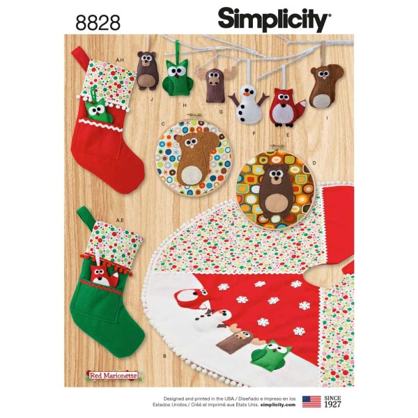 8828 simplicity holiday decor pattern 8828 a envelope
