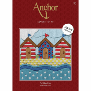 beach hut long stitch kit