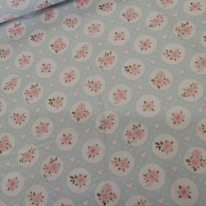 circular rose cotton fabric