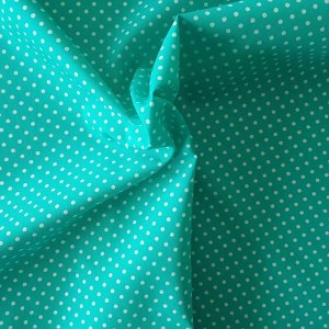 mint dotty cotton fabric