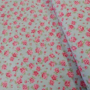 pink rose cotton fabric