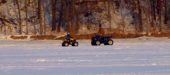 ATV'ing on Lake Demontreville
