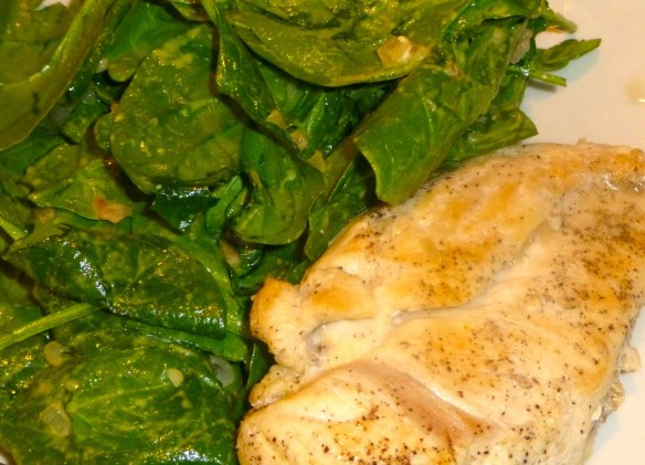 Sauteed Chicken with Spinach