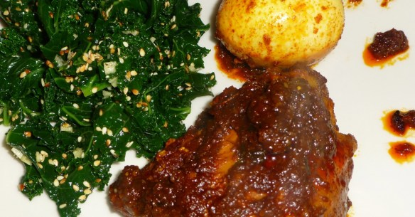 Ethiopian Chicken with Kale Salad