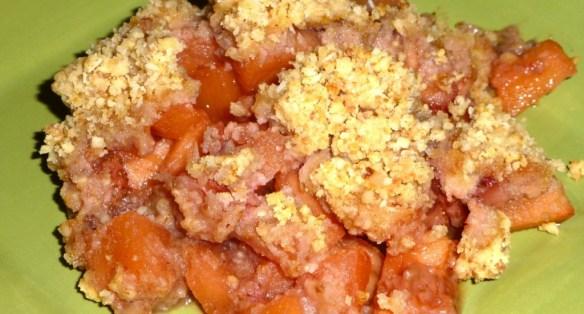 Paleo Apple & Strawberry Crumble Dessert