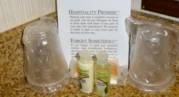 Holiday Inn, Hotel Toiletries